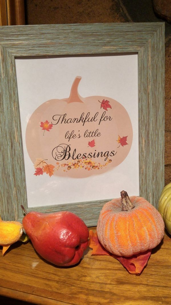 Thankful for Life's Blessing Printable